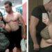 mujer gorda con hombre musculoso